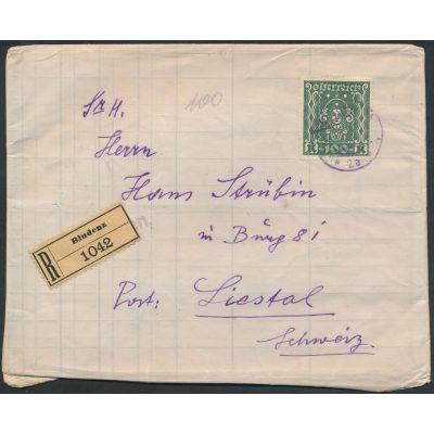 100 Kronen Frankatur