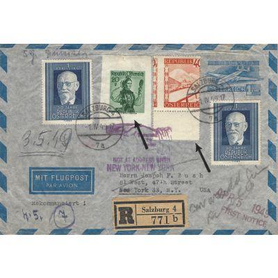 Luftpost-Umschlag 1949