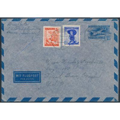 Luftpost-Umschlag 1953