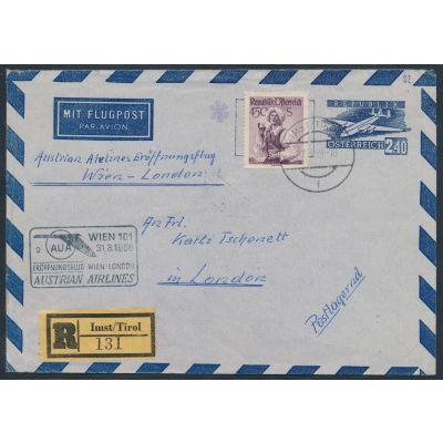 Luftpost-Umschlag 1954