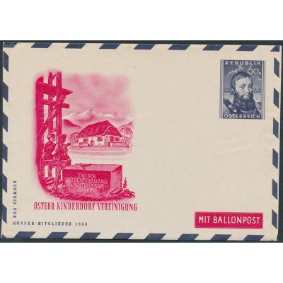 Privater Flugpost-Umschlag 1950