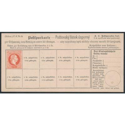 Postsparkarten  1882