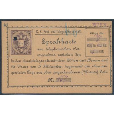 Telefon-Sprechkarte 1886