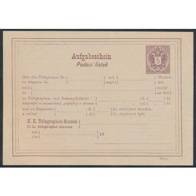 Telegram-Aufgabeschein 1884