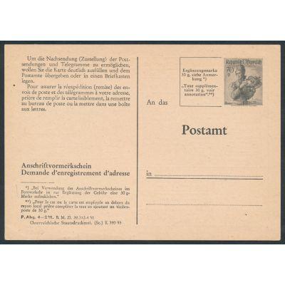 Anschriftenvormerkschein 1955