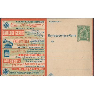 Inserat-Postkarte 1906