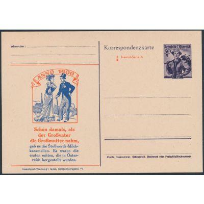 Inserat-Postkarte 1951