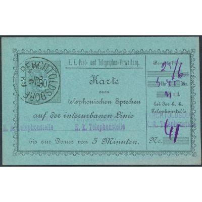 Telefon-Sprechkarte 1888