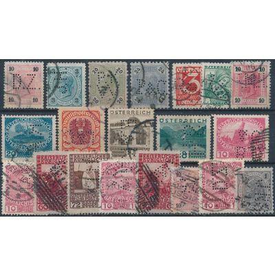 20 gelochte Briefmarken