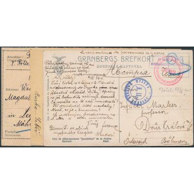 3 Kriegsgefangenen-Karten