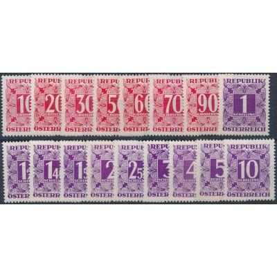 Portomarken 1949 weißes Papier