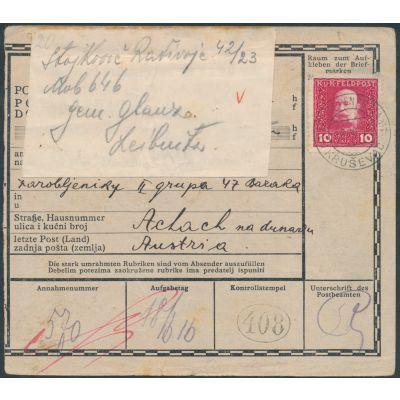 Postanweisung Krusevac