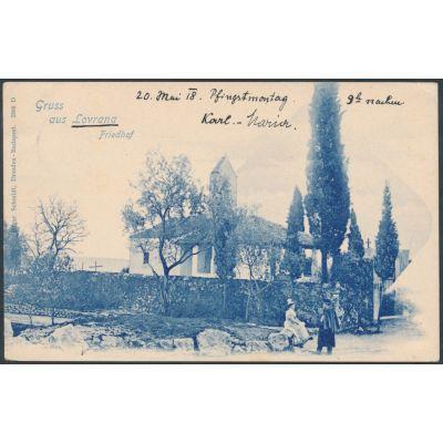 Lovrana, Friedhof