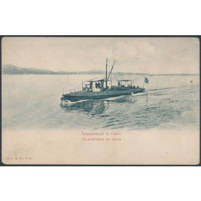 Torpedoboot in Fahrt