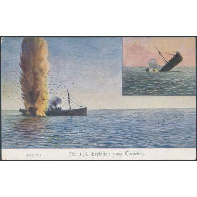 Torpedo-Explosion