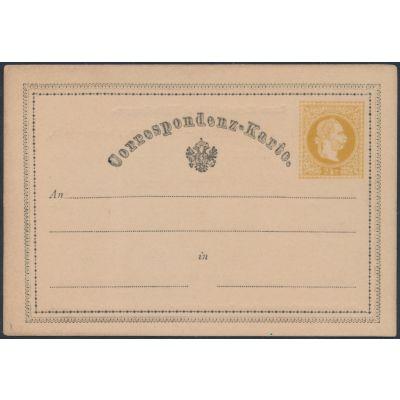 Ganzsache 1869 mit Vordruck