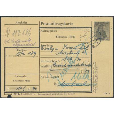 FA-Postauftragskarte 1955