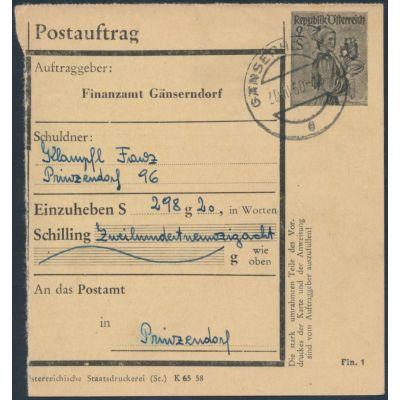 FA-Postauftragskarte 1958