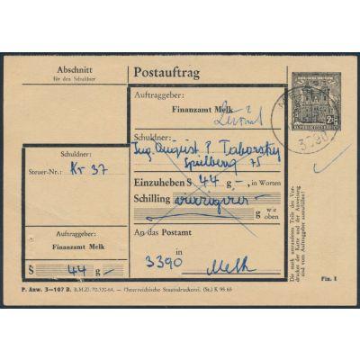 FA-Postauftragskarte 1965