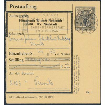 FA-Postauftragskarte 1967