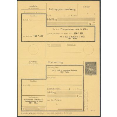FA-Postauftragskarte 1973