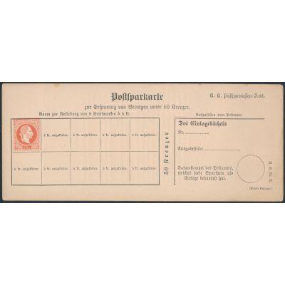 Postsparkarte 1882 deutsch