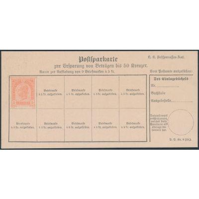 Postsparkarte 1890 deutsch