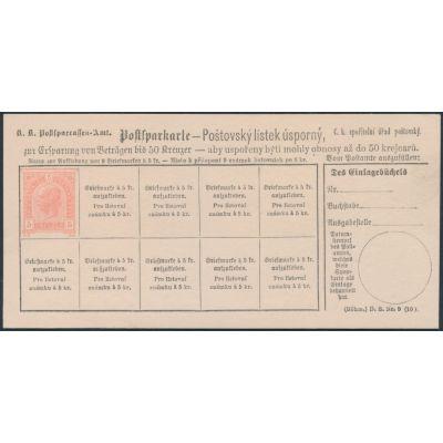 Postsparkarte 1890 böhmisch