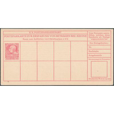 Postsparkarte 1916 deutsch