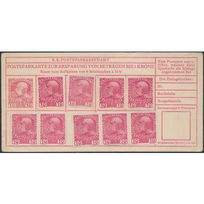 Postsparkarte 1913 deutsch
