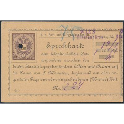 Telefonsprechkarte 1886