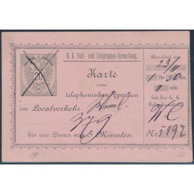 Telefonsprechkarte 1888