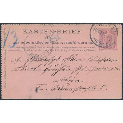 Rohrpost-Kartenbrief Wien 60