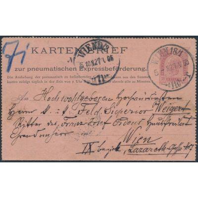 Rohrpost-Kartenbrief Wien 110