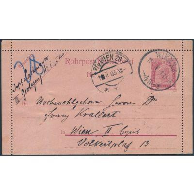 Rohrpost-Kartenbrief Wien 45