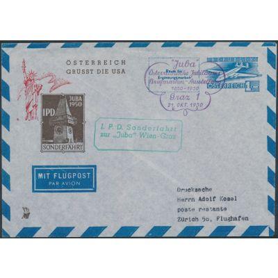 """Luftpost-Umschlag """"Juba"""""""