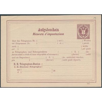 Telegramm-Aufgabeschein (ital.)