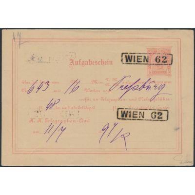 Telegramm-Aufgabeschein