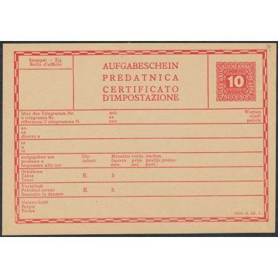 Telegramm-Aufgabeschein  (d.sk.i.)