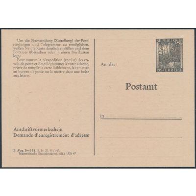 Anschriftenvormerkschein 1947