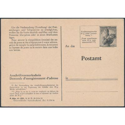 Anschriftenvormerkschein 1956