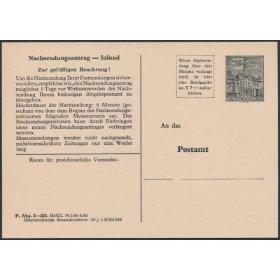 Nachsendungsantrag 1968
