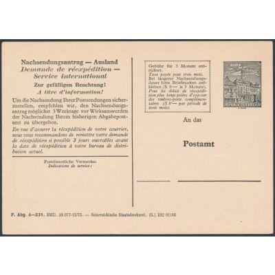 Nachsendungsantrag 1976