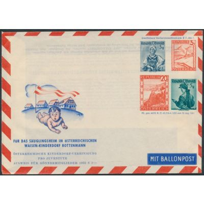 Privater Flugpost-Umschlag 1951