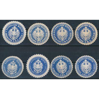 8 Siegelmarken Marine