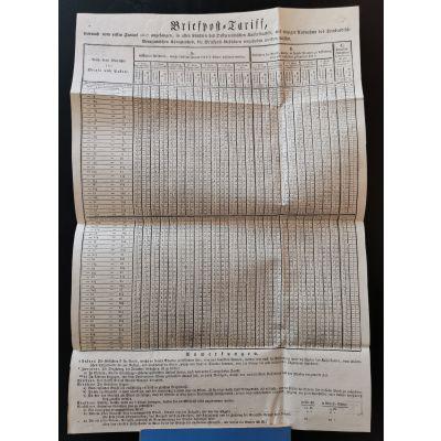 Plakat: Briefposttarif 1817