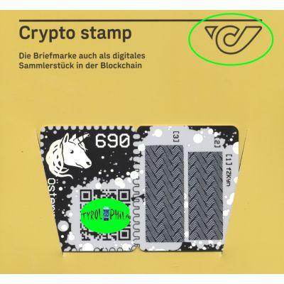 1. Crypto Stamp grün, 5 Digit