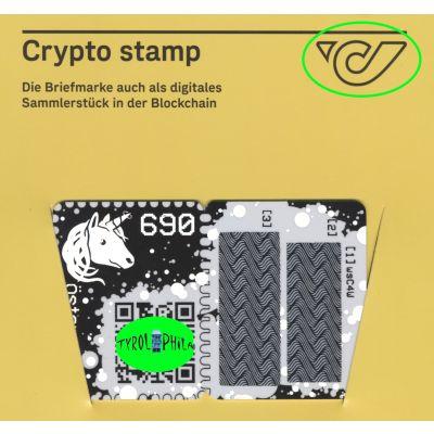 1. Crypto Stamp grün, 5-Digit