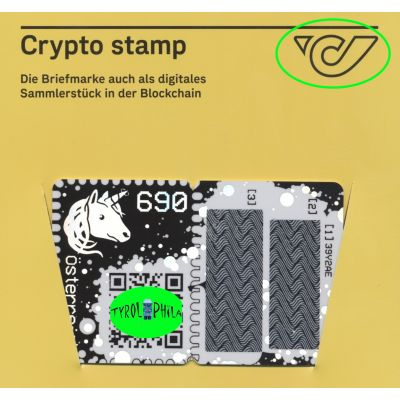 1. Crypto Stamp grün, Capitals