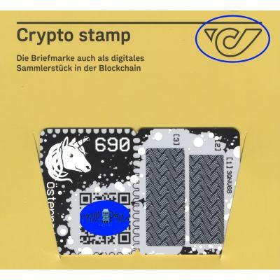 1. Crypto Stamp blau, Capitals